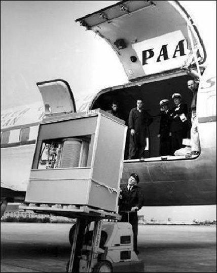 "5 MB Hard disk drive for IBM 305 RAMAC ""Super"" computer Sept 1956"